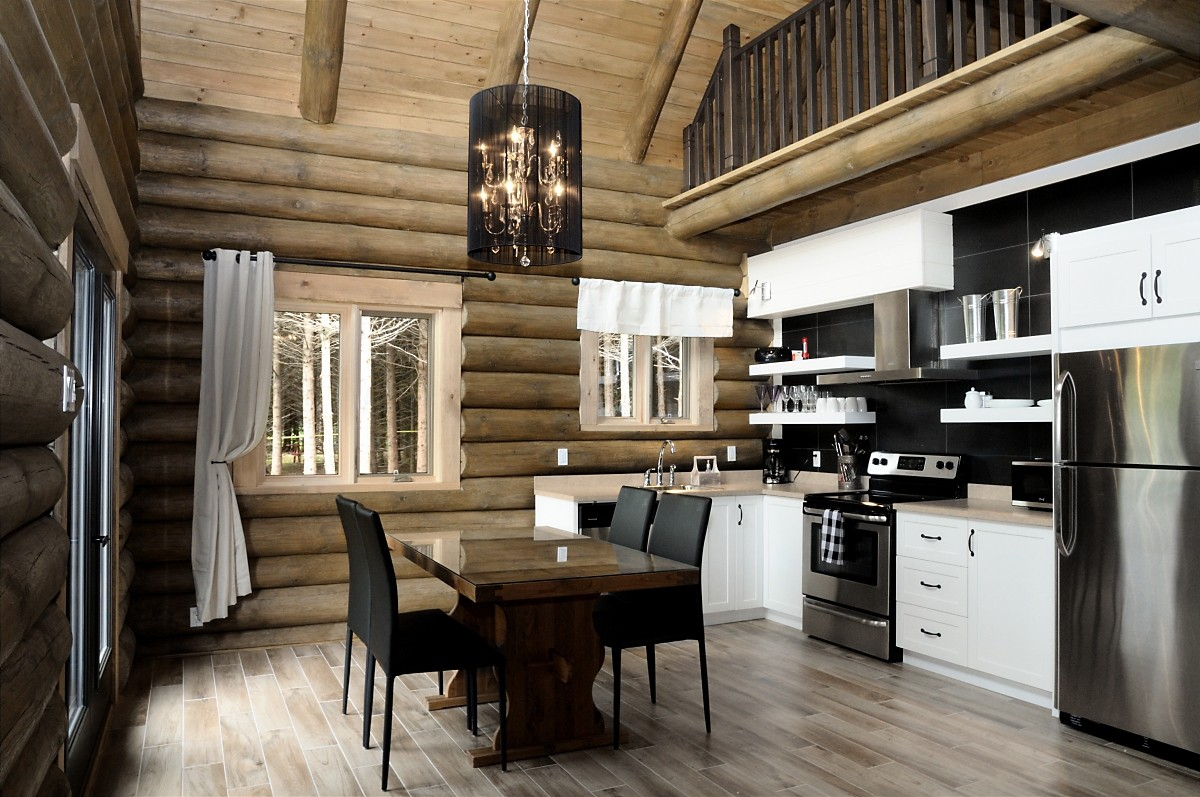 cuisine dans chalet bois excellent intrieur du chalet bois with cuisine dans chalet bois. Black Bedroom Furniture Sets. Home Design Ideas